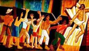 Τοιχογραφία του Cerrero Barredo (του κατεξοχήν ζωγράφου της θεολογίας της απελευθέρωσης), στον καθεδρικό ναό της πόλης Sao Felix do Araguaia (Βραζιλία)